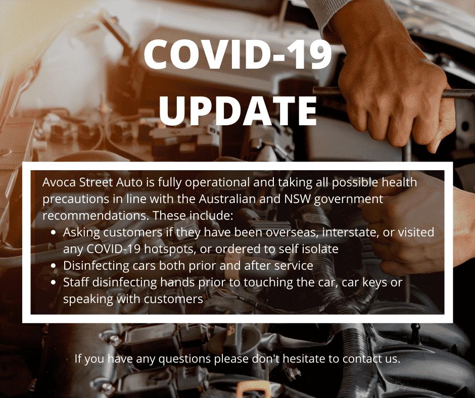 Avoca Auto covid update