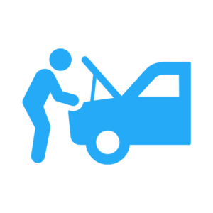 mechanic diagnosing car problem